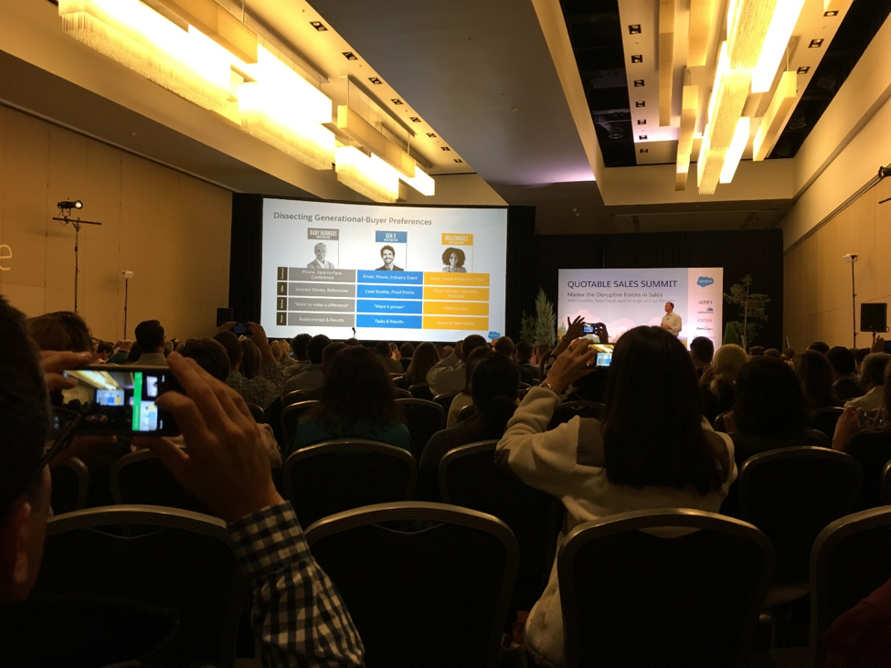 Snapshot from Quotable Sales Summit