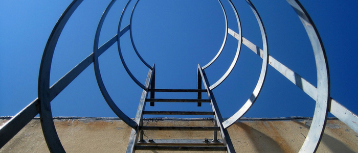 metal cylinder ladder